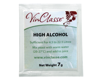 VinClasse High Alcohol Yeast - 7 Gram Sachet