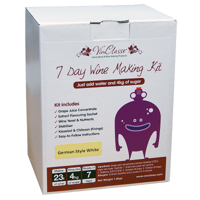 VinClasse German Style White 23 Litre - 7 Day - Sugar Required
