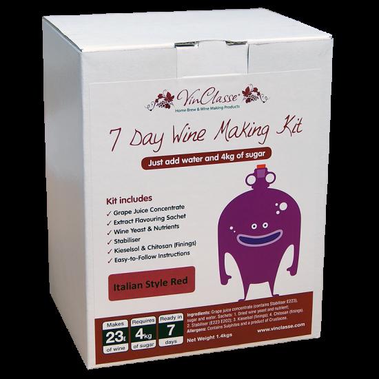 SPECIAL OFFER - VinClasse Italian Style Red - 30 Bottle Ingredient Kit - Short BBE