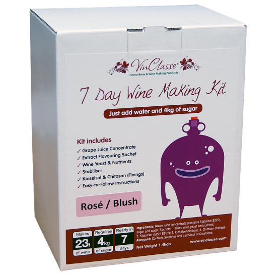 VinClasse Rose Blush 23 Litre - 7 Day - Sugar Required