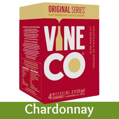 Vineco Original Series 30 Bottle White Wine Ingredient Kit - Chardonnay