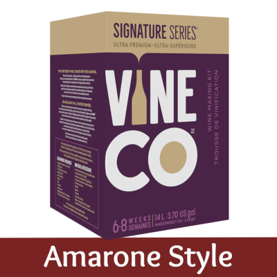 Vineco Signature Series Red Wine Ingredient Kit (With Grape Skins) - Amarone Style