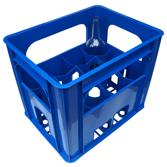Plastic Wine Bottle Crate - Holds 12 Bottles