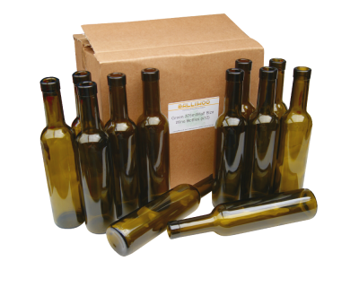 375ml / Half Size Green Glass Wine Bottles Pack Of 12