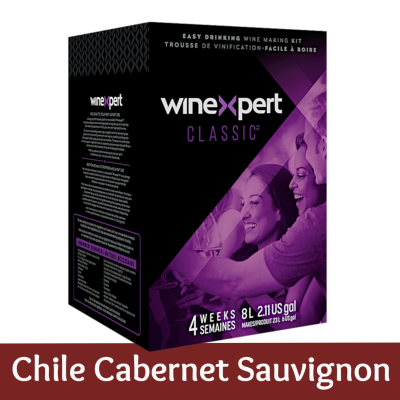 Winexpert Classic - Chilean Cabernet Sauvignon - 30 Bottle Red Wine Ingredient Kit