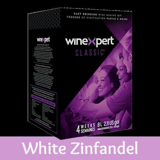Winexpert Classic - Californian White Zinfandel - 30 Bottle Rose Wine Ingredient Kit
