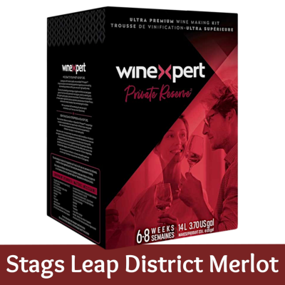 Winexpert Private Reserve 30 Bottle Red Wine Ingredient Kit - Stags Leap District Merlot (With Grape Skins)