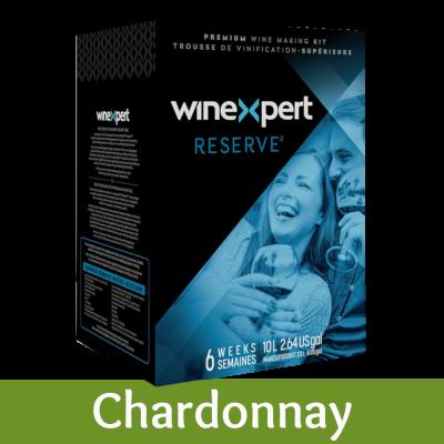 SPECIAL OFFER - Winexpert Reserve 30 Bottle White Wine Ingredient Kit - Australian Chardonnay - Damaged Box