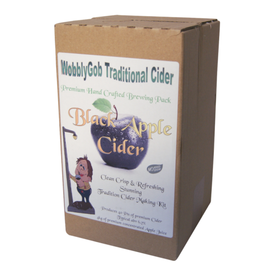 WobblyGob 4kg - 40 Pint - Black Apple Cider Ingredient Kit