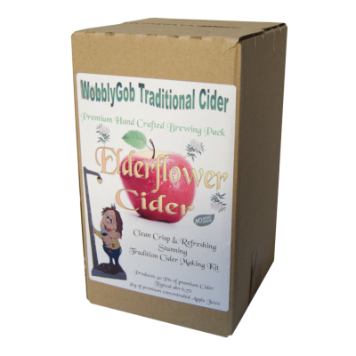 WobblyGob 4kg - 40 Pint - Elderflower Cider Ingredient Kit