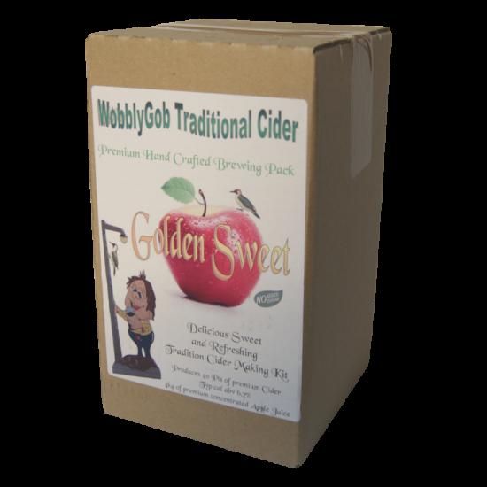 WobblyGob 4kg - 40 Pint - Golden Sweet Traditional Apple Cider Ingredient Kit