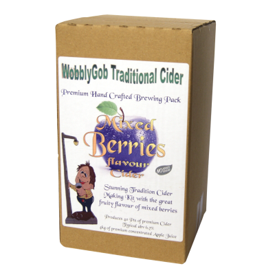 WobblyGob 4kg - 40 Pint - Mixed Berry Cider Ingredient Kit