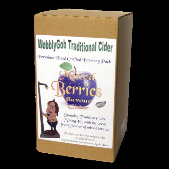 WobblyGob 4kg - 40 Pint - Mixed Berry Cider Ingredient Kit