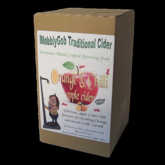 WobblyGob 4kg - 40 Pint - Orange And Chilli Apple Cider Ingredient Kit