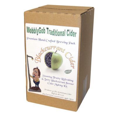 WobblyGob 4kg - 40 Pint - Blackcurrant Cider Ingredient Kit