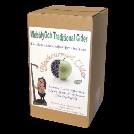 WobblyGob 4kg - 40 Pint - Blackcurrant Cider Ingredient Kit