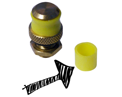 Yellow Rubber Seal For S30 Safety Valve - For Hambleton Bard Barrels