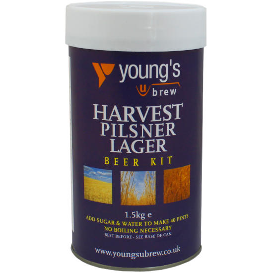 SPECIAL OFFER - Youngs Harvest Pilsner Lager 40 Pint Ingredients - Damaged Tin