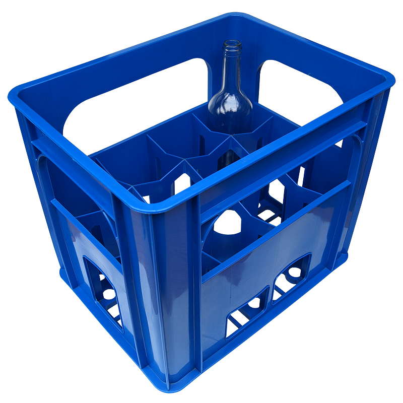 Plastic wine bottle crate holds 12 bottles ideal for for Empty wine crates
